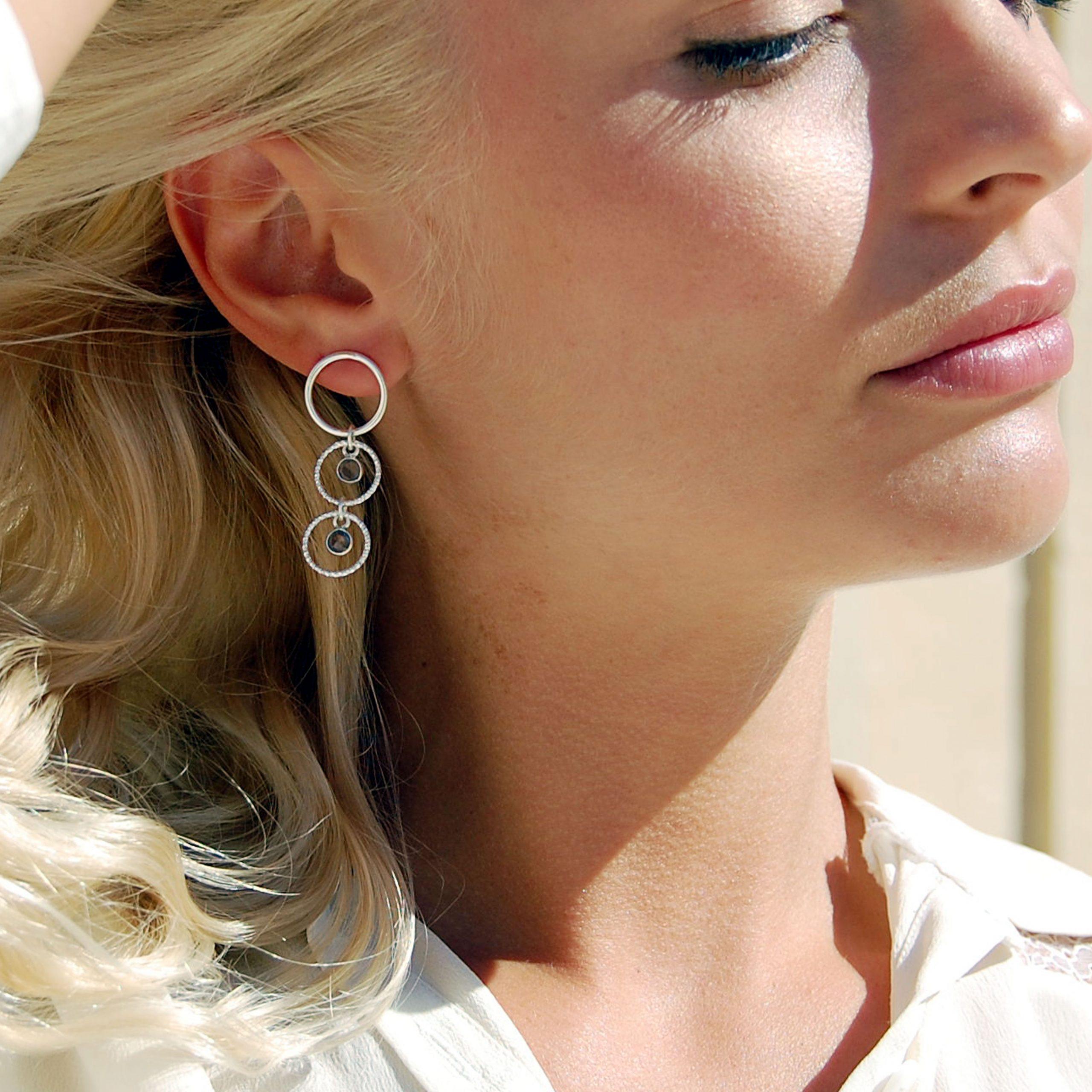 Boucles d'oreilles Persei argent